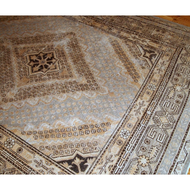 Country 1900s Handmade Antique East Turkestan Khotan Rug 6.1' X 11.9' For Sale - Image 3 of 12