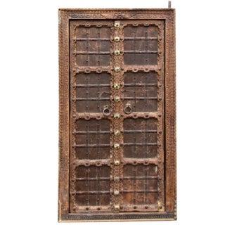 Antique Indian Haveli Iron Bound Door