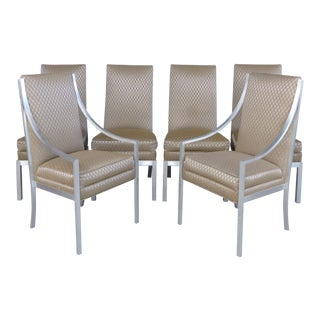 Aluminum Frame Dining Chairs- Set of 6