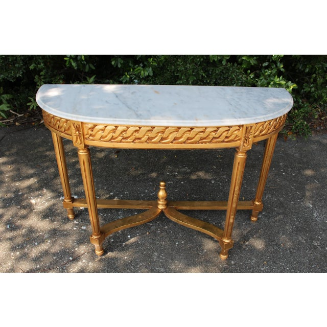 Late 20th Century Vintage French Demi-Lune Table For Sale - Image 10 of 10