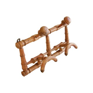 Antique French Faux-Bamboo Coat & Hat Rack For Sale