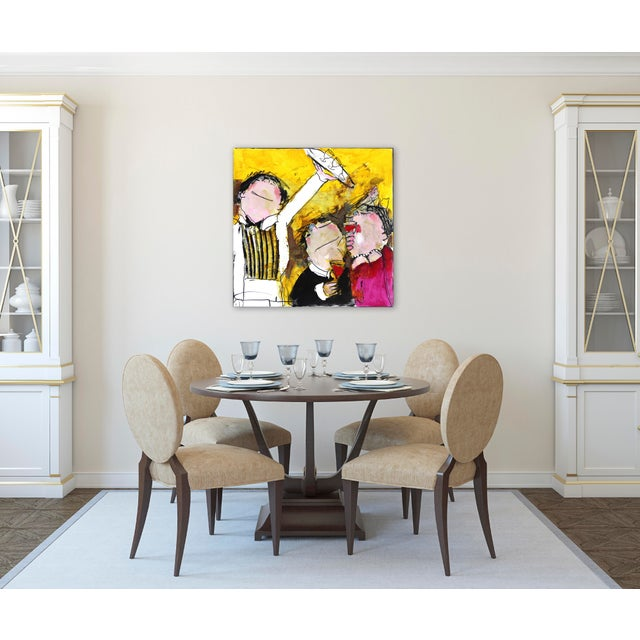 """Canvas Original Figurative Abstract Artwork by Gerdine Duijsens """"The Waiter"""" For Sale - Image 7 of 9"""