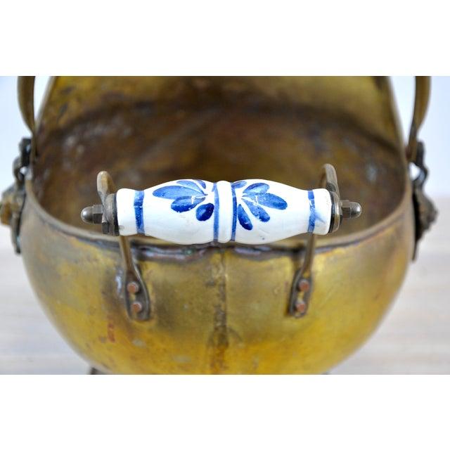 Vintage Brass Helmet Coal Scuttle For Sale - Image 4 of 11