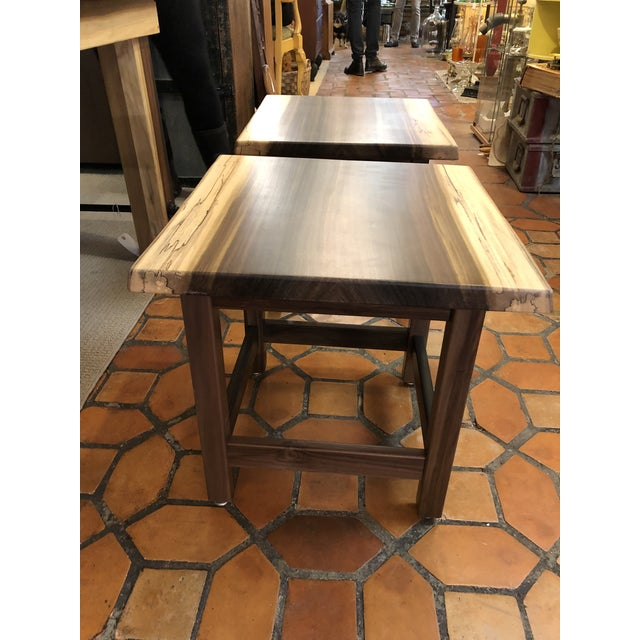 Artisan Made Amish Custom Poplar End Tables -A Pair For Sale In Philadelphia - Image 6 of 11