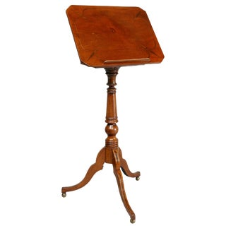 Regency Mahogany and Ebony Inlaid Music Stand For Sale