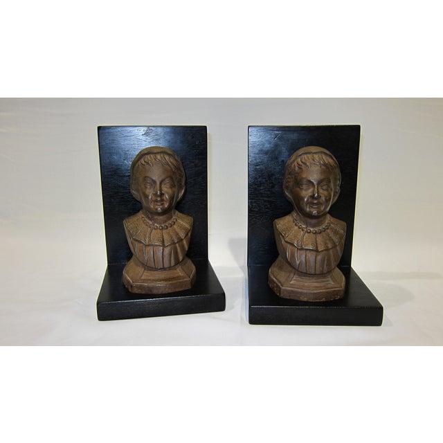Vintage Sarreid LTD Cast Iron & Wood Bookends - A Pair - Image 2 of 6
