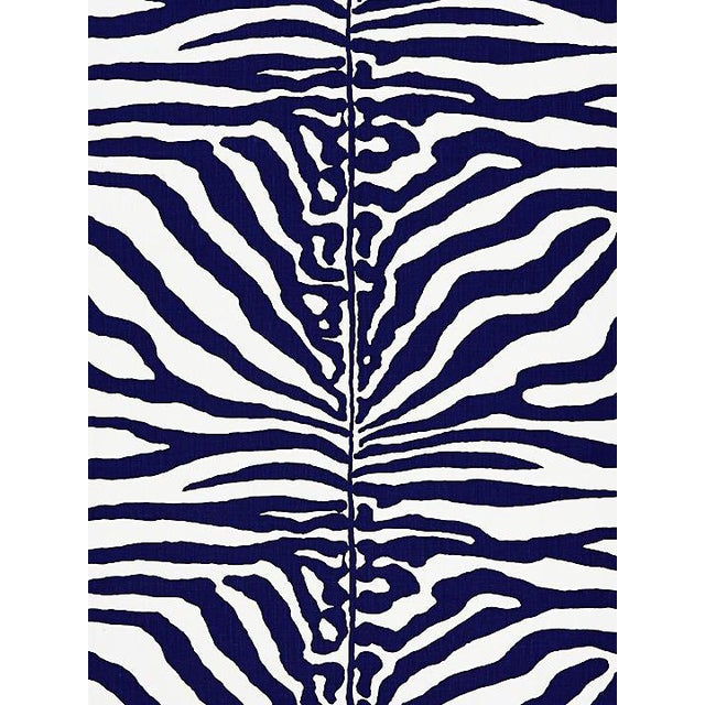 Scalamandre Zebra, Navy Fabric For Sale