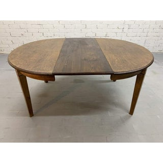 Vintage French Oak Oval Rustic Extension Shaker Leg Dining Table 1950s Preview