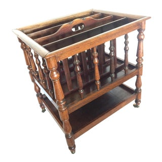 Early 19th Cent. English Rosewood Canterbury - Late Georgian Period Magazine or Music Stand For Sale