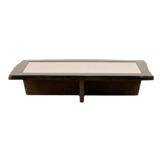 Vintage Modernist Rectangular Coffee Table with Eggshell Fragment Top For Sale