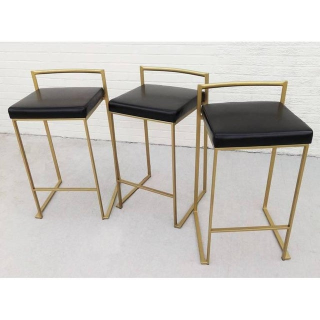 Contemporary Six Minimalist Modern Bar Stools by Enzo Berti For Sale - Image 3 of 9