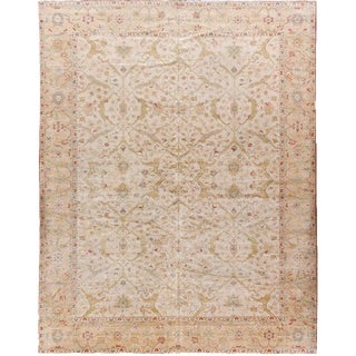 """Traditional Hand Made Wool Rug - 12' X 15'3"""" For Sale"""