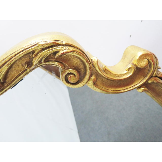 Italian Italian Shell Carved Gilt Wall Mirror For Sale - Image 3 of 4