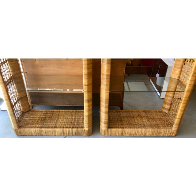 Pair Rattan Etageres From 70's For Sale - Image 4 of 10