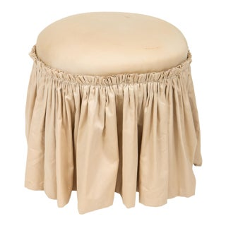 Upholstered Vanity Seat / Pouf For Sale