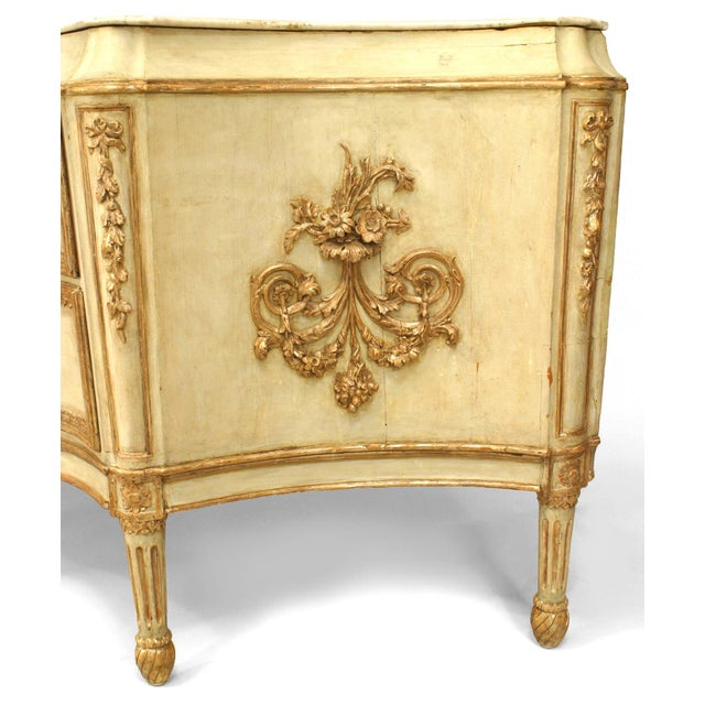 Monumental 18th C. Italian Silver Gilt Carved Commode For Sale In New York - Image 6 of 8