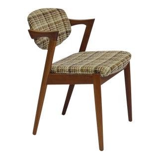 20+ Kai Kristiansen Danish Teak Dining Chairs Model 42 for Custom Upholstery