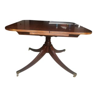 English Regency Cherry Wood/Veneer Expandable Dining Breakfast Table For Sale