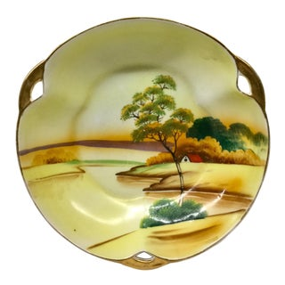 Antique Japanese Porcelain Scenario Plate