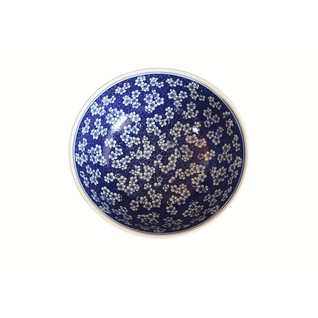 Chinese Lg Centerpiece Plum Blossom Bowl - Image 3 of 8