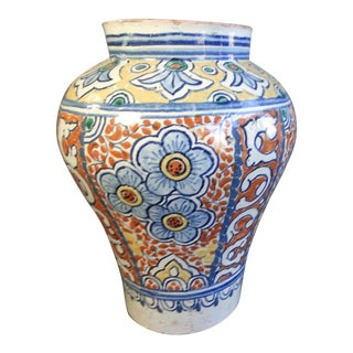 1930s Talavera Decorated Vase For Sale