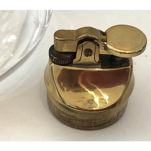 Mid-Century Set of Lucite & Brass Catchall & Lighter For Sale - Image 12 of 13