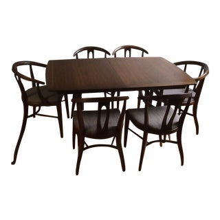 Mid-Century Modern Walnut Dining Set