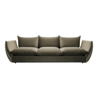 Mid Century Italian Gondola Style Sofa in the Manner of Mario Marenco for Arflex For Sale