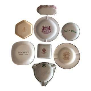 European & American Souvenir Ashtrays - Set of 8