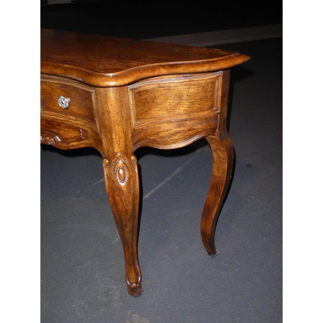 Vintage Century Furniture French Style Oak Console Table For Sale - Image 5 of 11