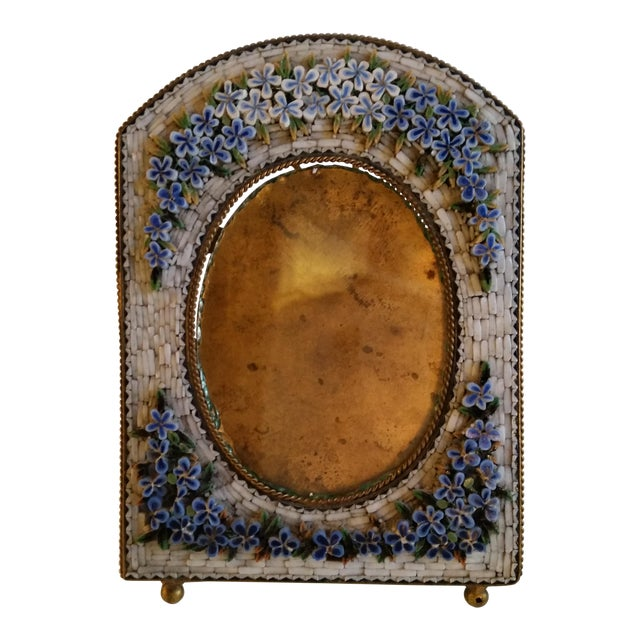 Antique Floral Mosaic Photo Frame For Sale In San Francisco - Image 6 of 6