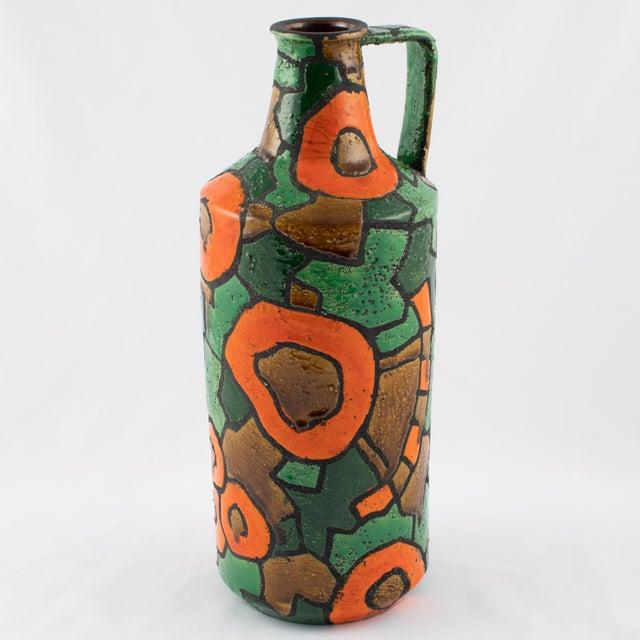 1960s Alvino Bagni for Raymor Orange and Green Vase, Circa 1960s For Sale - Image 5 of 9