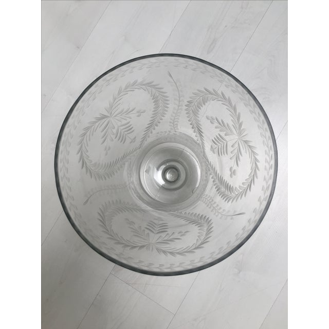 Glass Heart-Motif Hurricane Vases - A Pair - Image 3 of 3