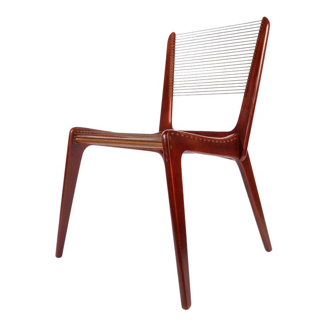 Jacques Guillon Cord Chair For Sale