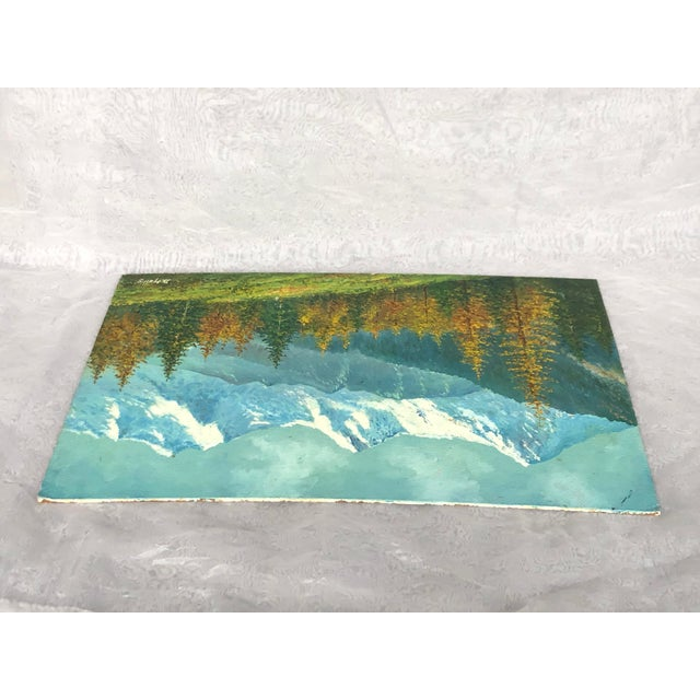 Mid 20th Century Mountain Landscape Oil Painting For Sale - Image 10 of 13
