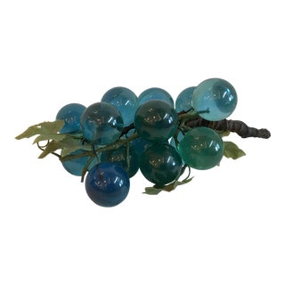 20th Century Contemporary Blue Lucite Grapes Bunch For Sale