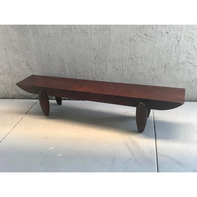Pirogue bench designed by Christian Liaigre for Holly Hunt. Made in Paris, France circa 1999.
