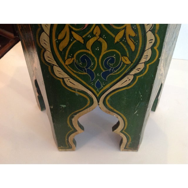 Petite Moroccan Tabouret For Sale In West Palm - Image 6 of 12