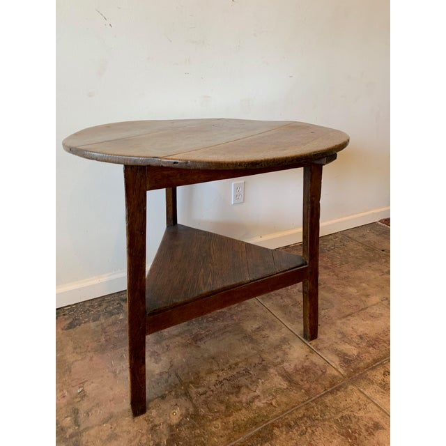 Antique French Farm Side Table For Sale - Image 4 of 5