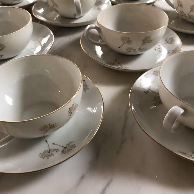 White Porcelain Schonwald Dandelion Tea Cups Set - Set of 32 For Sale - Image 8 of 11