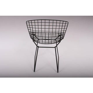 1960s Vintage Original Harry Bertoia for Knoll Black Wire Side Chairs- Set of 4 Preview