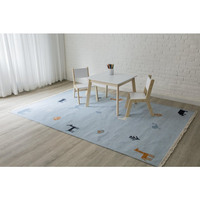 "Textile Erin Gates by Momeni Thompson Porter Blue Hand Woven Wool Area Rug - 5' X 7'6"" For Sale - Image 7 of 9"