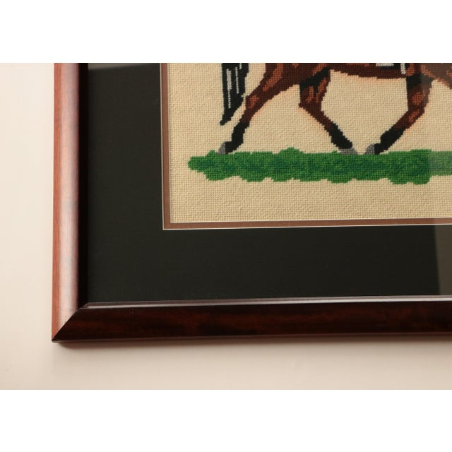 "American ""Dressage Rider"" Equestrian Needlepoint For Sale - Image 3 of 5"