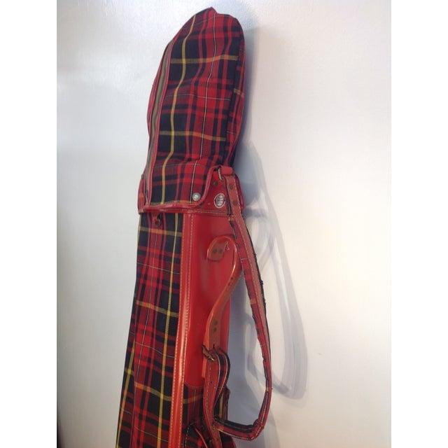 Vintage 1960s Red Tartan Spalding Golf Bag & Clubs - Image 6 of 7