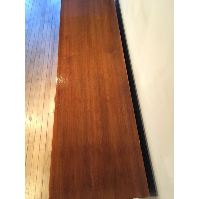 Mid 20th Century Vintage Walnut Credenza For Sale In Chicago - Image 6 of 10