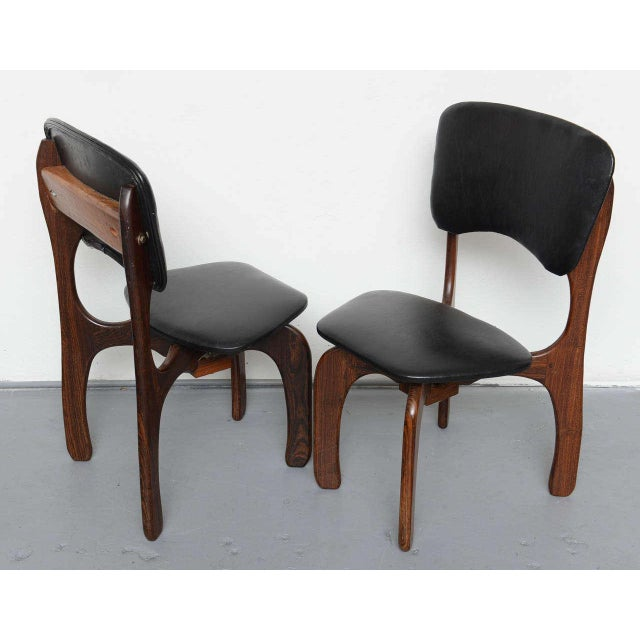 1970s Rosewood Chairs by Don Shoemaker, Mexico For Sale In Miami - Image 6 of 9