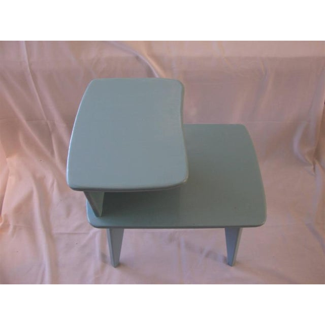 Retro Duck Blue Side Tables - A Pair - Image 4 of 6
