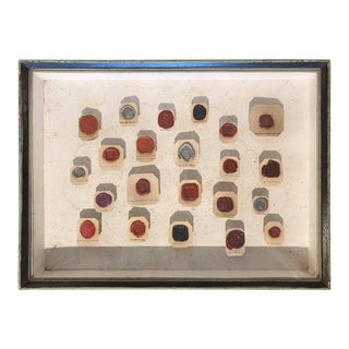 Framed 18th Century Wax Seals