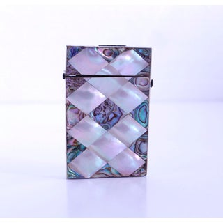 Mother of Pearl and Abalone Diamond Pattern Marquetry Card Case Preview