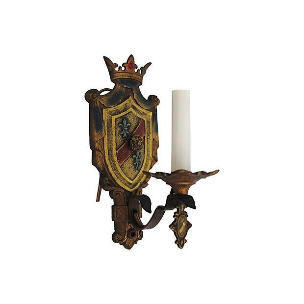 Crest Wall Sconces - Pair - Image 2 of 4